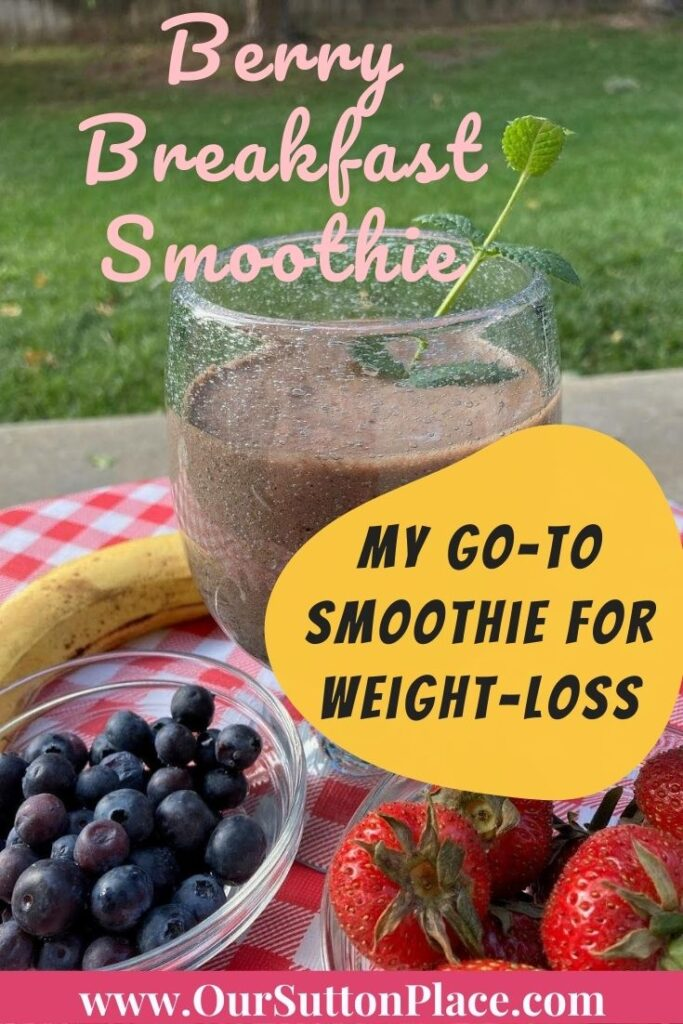Title Card for the Berry Breakfast Smoothie