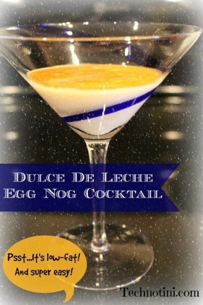 My dulce de leche egg nog holiday cocktail recipe will make you feel like you're floating on a winter cloud. It's low-fat and super simple to make. Check out my recipe for the 2 ingredients and easy steps. Perfect for Christmas, Hanukkah, or New Year's Eve parties. Enjoy!