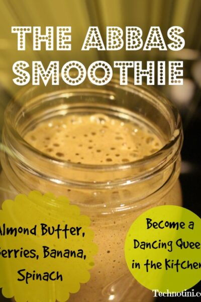 This super easy green smoothie is packed with power foods to get you going, or even dancing, in the morning!