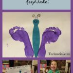 Learn how to make a simple kid-friendly Footprint butterfly keepsake as well as dozens of other crafts in this Spring Craft Blog Hop. Mother's Day crafts | recycled and upcycled crafts |Easter crafts | General Spring Crafts.