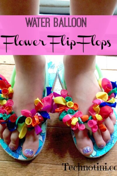 Make your own super easy, super fun water proof flower flip-flops. This kid-friendly DIY craft is great for a new summer style.