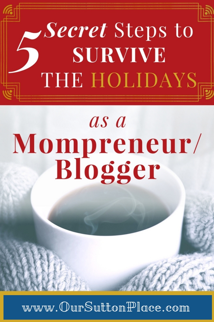 Being a mom is hard, being a working mom is even harder. Learn how to reclaim balance and joy during the chaotic holiday season in just 5 steps. My favorite tip is Step #3—total life changer! Organization | time management | holiday stress | stress-free holidays #holidaystress #timemanagement #mompreneur