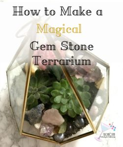 Recently, my family has gotten into gem mining-which means we have a lot of beautiful gem stones lying around the house. So I decided to create an open air terrarium with succulents and the gem stones from our family gem mining adventures. How better to show them off than in a relaxing, botanical terrarium? It's a great gem mining keepsake. Check out my tips to help make this DIY a little easier. Gem mining crafts, minerals | crystals | DIY terrarium