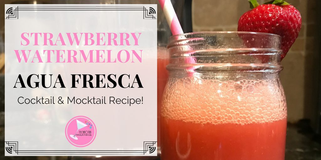 Twitter card for strawberry watermelon agua fresca