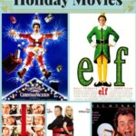 Title Card Collage of best Contemporary Holiday Movies