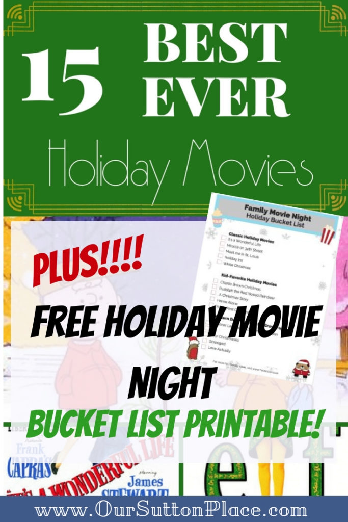Is it possible to pick JUST 5 favorite Christmas (Holiday) movies? I bet you can't! So, I've come up with three lists: Christmas Movies for Kids, Classic Christmas movies, and the Best Present-Day Christmas movies. Did I miss any of your favorites? Plus, download my free Family Holiday Movie Night Bucket List! #holidaybucketlist #ChristmasMovies #familymovienight