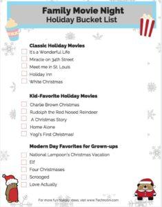 Holiday Movie Bucketlist