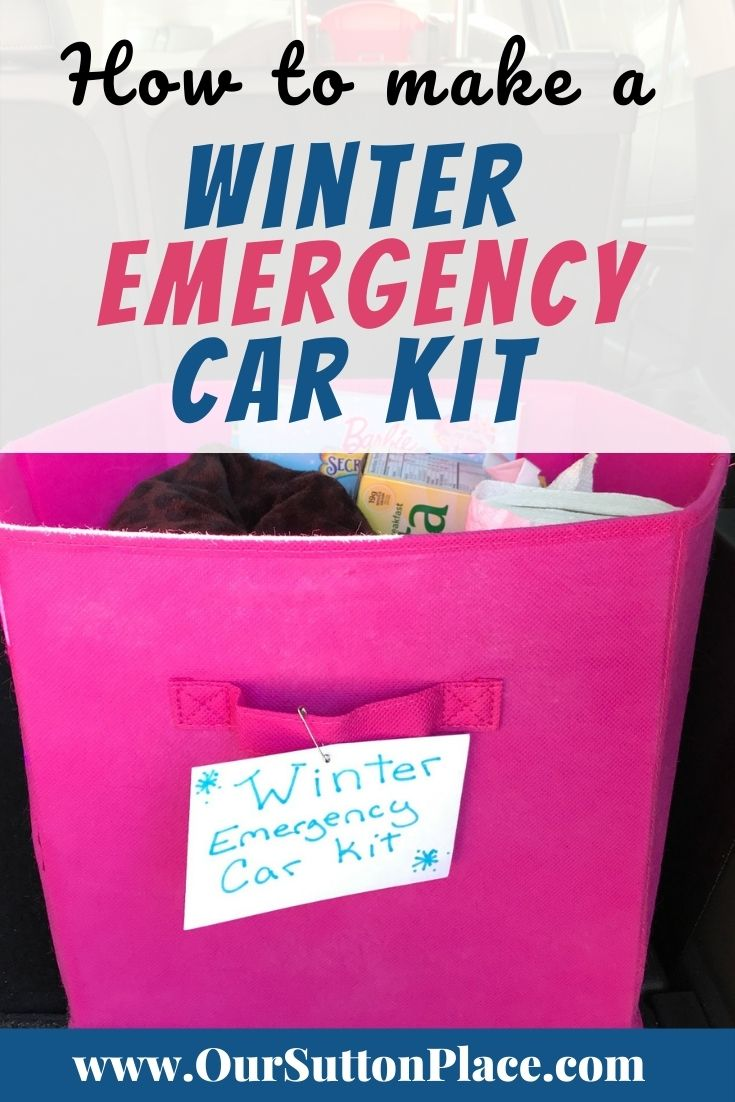 title card showing a winter emergency car kit