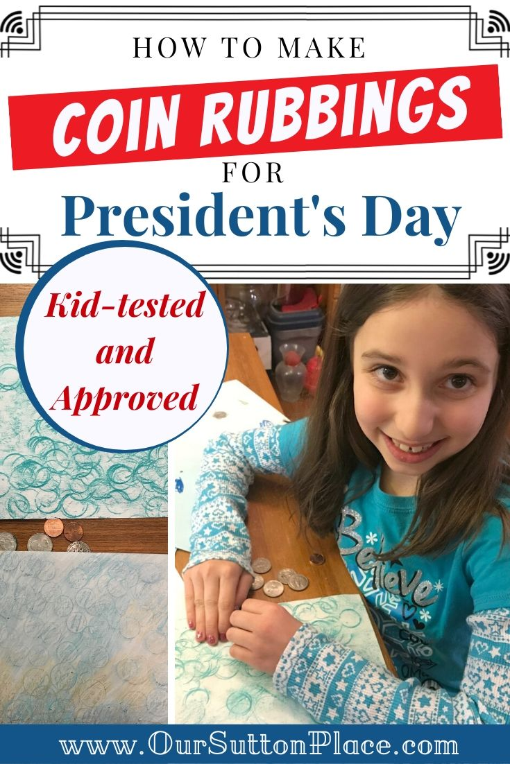 President's Day Coin Rubbings