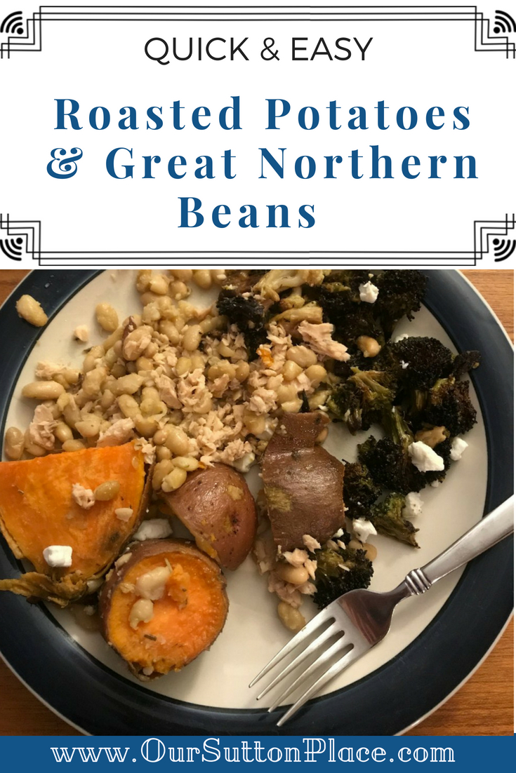 This super easy throw-together meal using pantry staples will delight the whole family. Packed with power foods like sweet potatoes and beans, your kids won't even realize it's a healthy dinner. Check out my Pro-tip to make this dish even faster. #easydinners #lastminutemeals