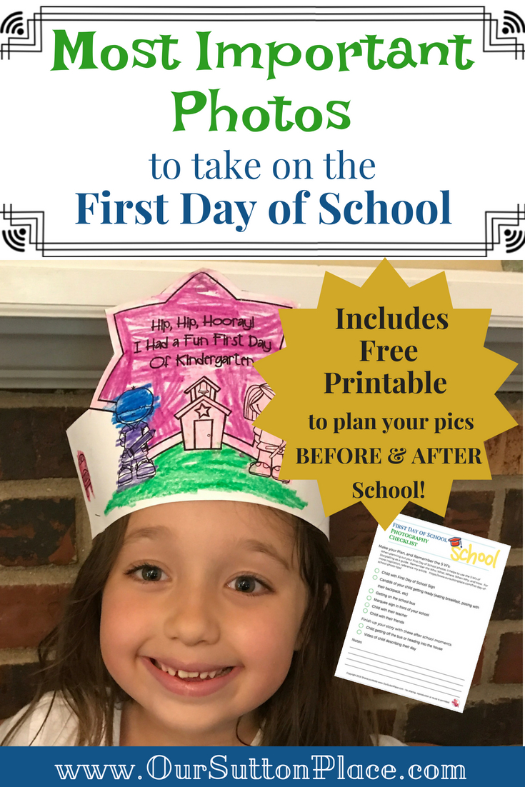 Capture all of the excitement and memories of a new school year with these First Day of School Photo Tips. In this post, I help you outline a photo plan and list my top tips for and using the 5 W's of storytelling to capture the moment in an easy, stress-free way. Tip #4 is one of my favorites! #backtoschool #memorykeeping #firstdayofschool #photocheatsheet