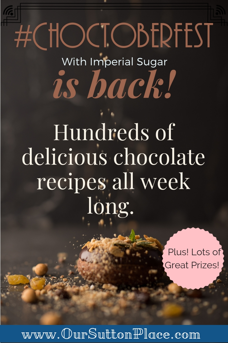Choctoberfest 2018 with Imperial Sugar is a blogger celebration of all things chocolate, including: milk, dark, white, bittersweet, semi-sweet, and cocoa! From sweet delicious chocolate recipes to savory chocolate dishes, join the fun and enter to win the Choctoberfest Prize Pack. #Choctoberfest #chocolaterecipes