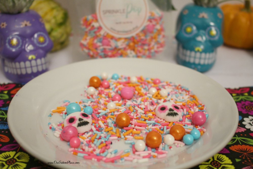 These festive Mexican Hot Chocolate Cupcakes are packed with flavor and perfect for Halloween, Day of the Dead / Dia De Los Muertos, and Disney's Coco parties. With sugar skulls made from real sugar, these cupcakes are sure to please even the most ghostly of cupcake connoisseurs. #Ad, #Halloween #DisneysCoco #DayoftheDead #cupcakes #mexicanhotchocolate
