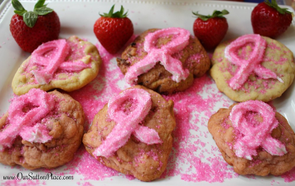 These Strawberry Chocolate Chip Cookies can be made 3 different ways from 1 batch of dough. Keep your sanity when your family wants different options with my simple tips. They're great for Breast Cancer Awareness, Valentine's Day, Baby Showers, Spring parties, or just every day desserts. #BreastCancerAwareness #strawberrycookies #pinkcookies
