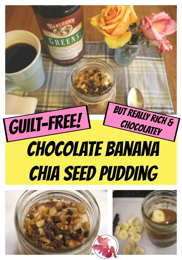 This super-food packed chocolate banana chia seed pudding recipe is packed with lots of extra antioxidants, and nutrients. It has a deliciously decadent chocolate taste and is high in fiber and protein. This recipe is also vegan and gluten-free. Enjoy it as a quick on-the-go breakfast or yummy afternoon snack. #Sponsored #cleaneating #veganrecipes #glutenfree