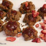 Strawberry Almond Butter Breakfast Cookies