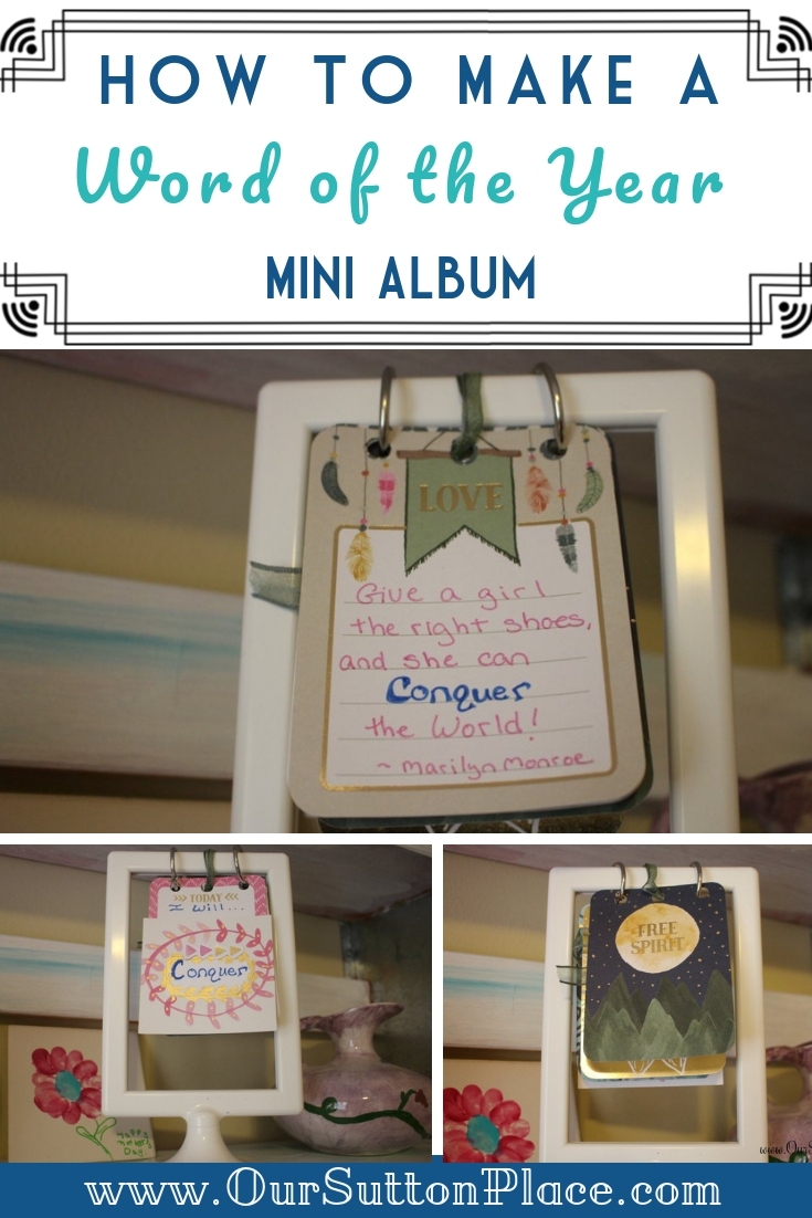 Word of the Year mini Album collage