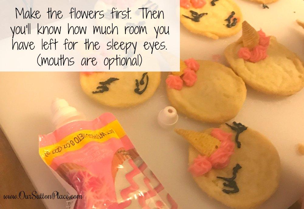 creating the unicorn cookie mane