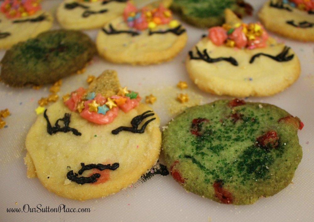 Unicorn Sugar Cookies and Dragons Breath Cookies