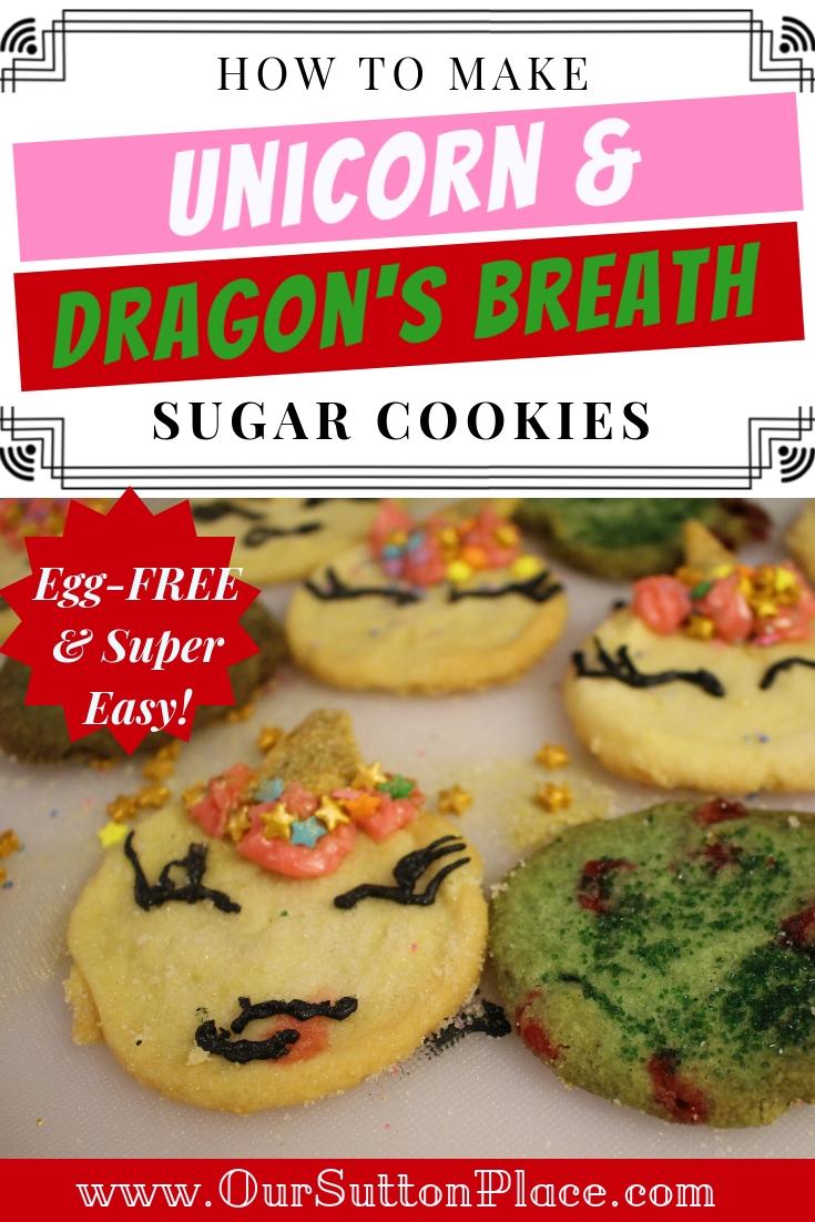 Unicorn and Dragon Cookies