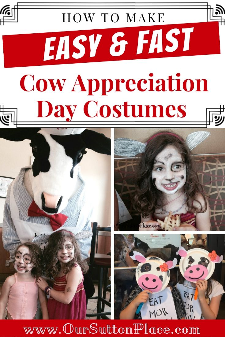 How to Make Super Easy Chick-Fil-A Cow Appreciation Day Costumes