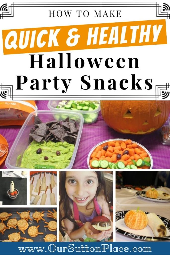Quick and Healthy Halloween Party Snacks