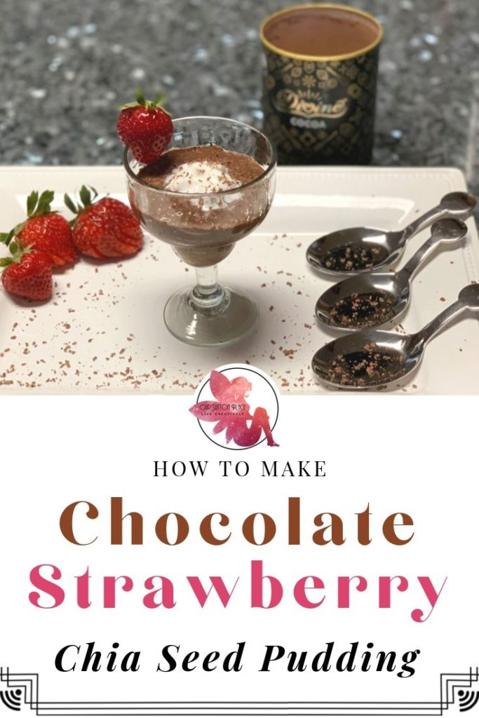 Chocolate STrawberry Chia seed pudding title card