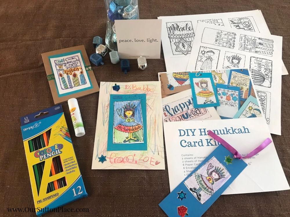the DIY Hanukkah Card Kit
