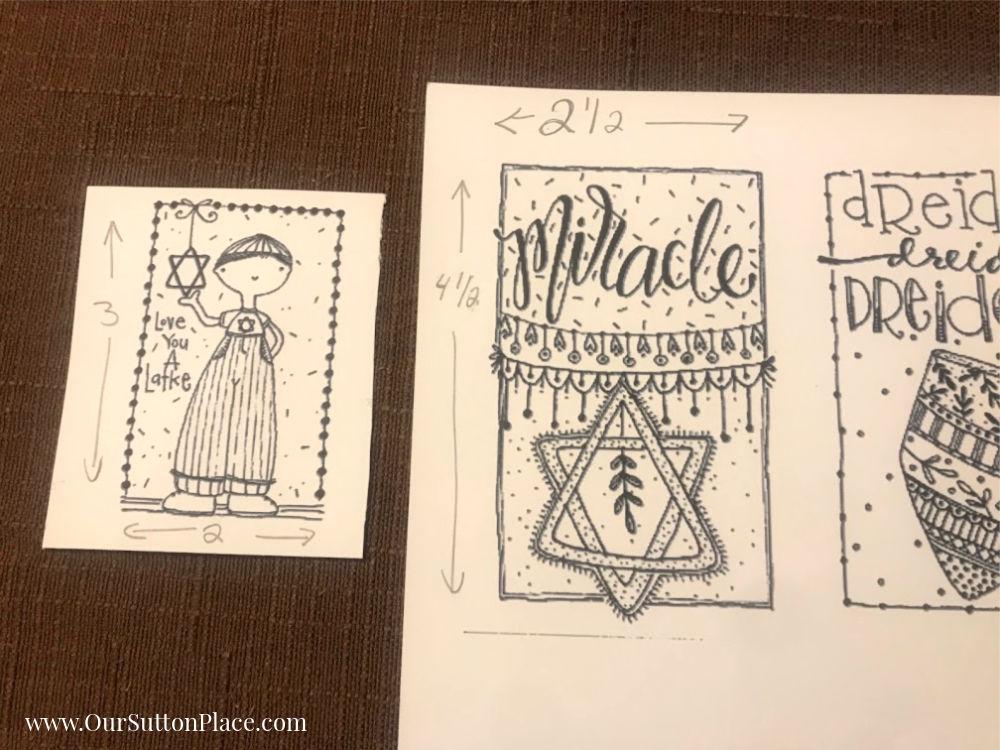 Hanukkah card sizes