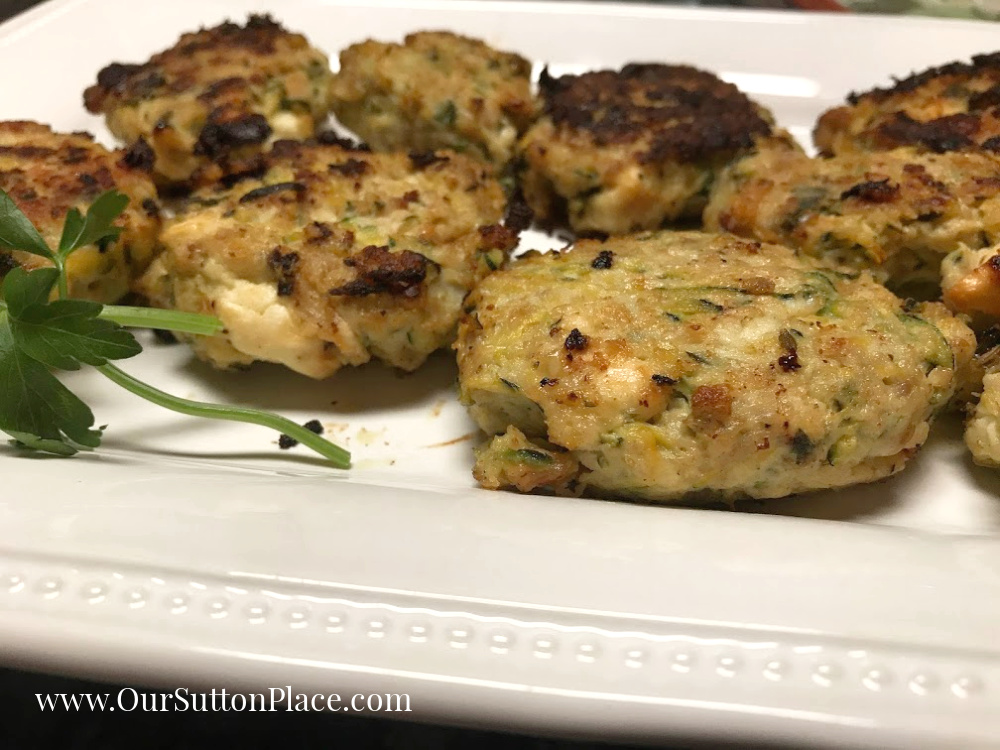 close-up of the zesty zucchini turkey meatballs
