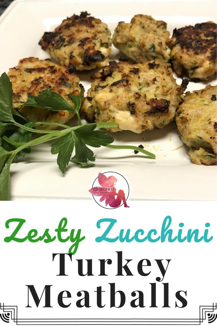 Zesty Zucchini Turkey Meatballs title card