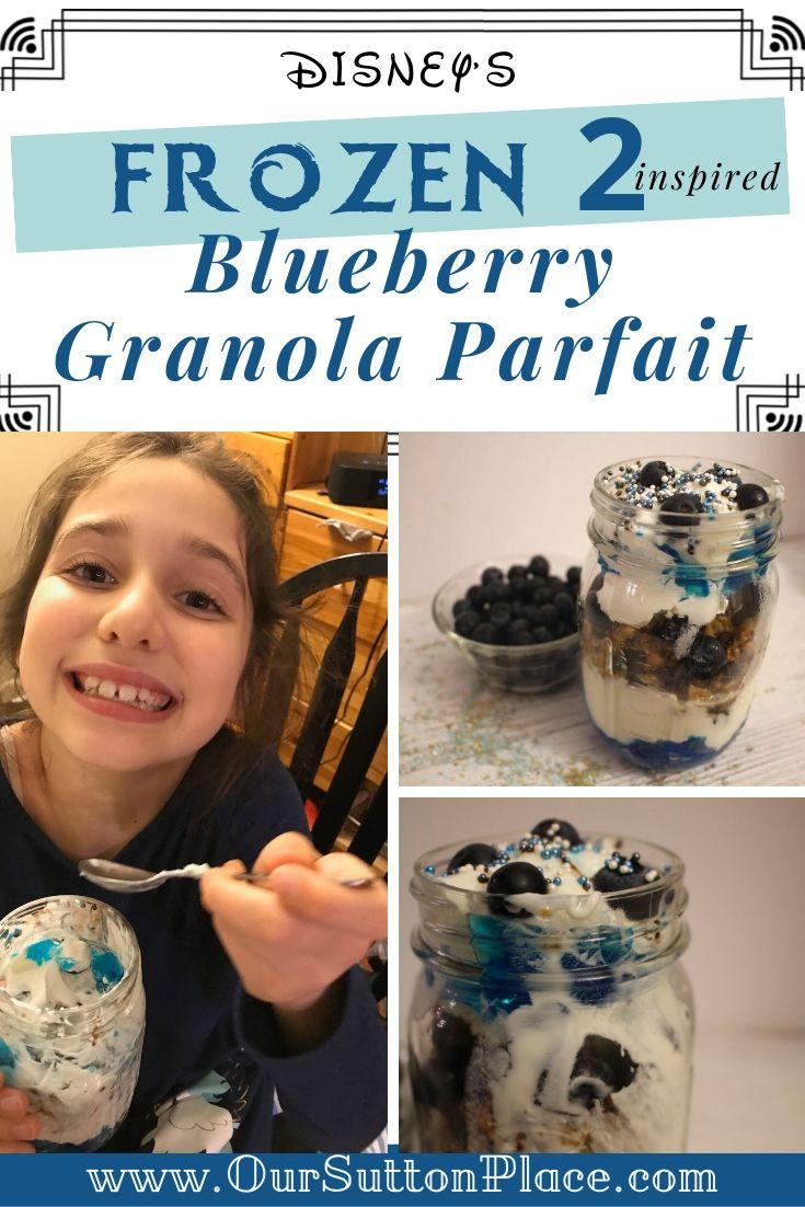 Blueberry Granola Parfait Collage Title Card