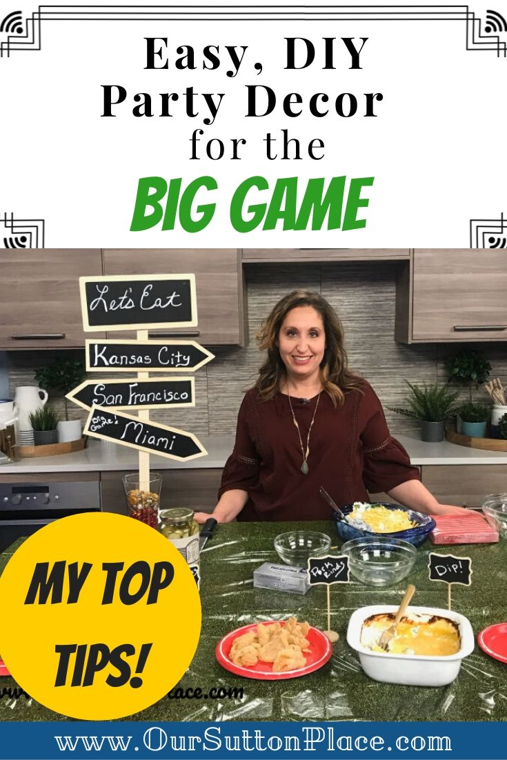 easy DIY party decor for the Big Game