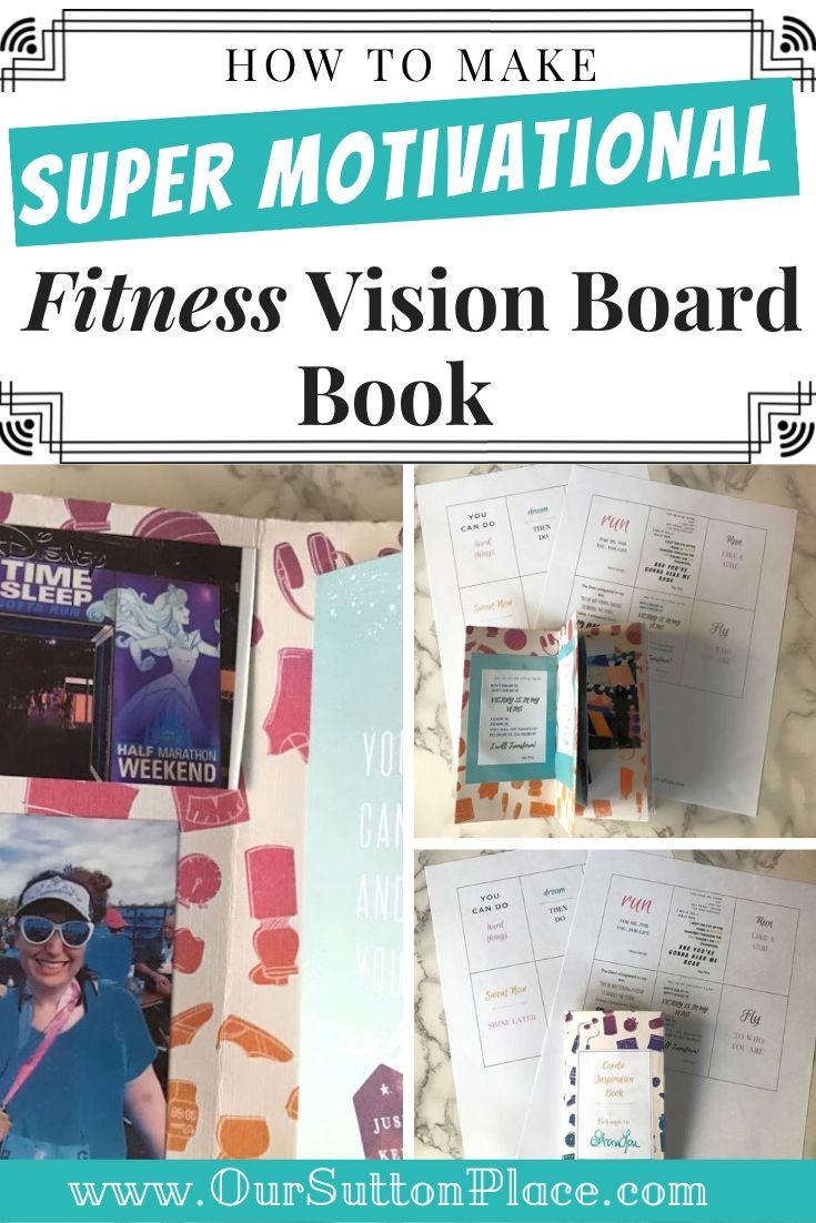 Collage of Fitness Vision Board Book