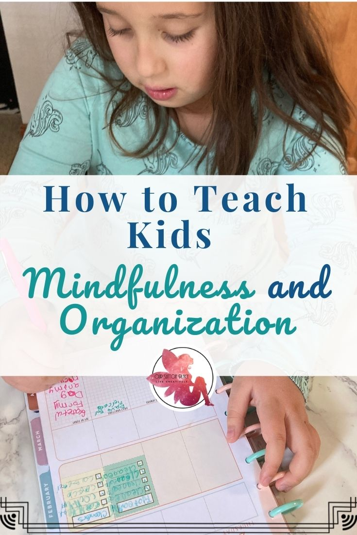 Title card focusing on mindfulness and organization