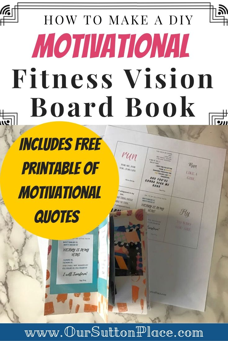 Fitness Vision Board Book Title Card