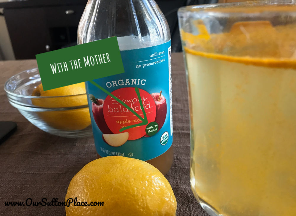 Use organic Apple Cider Vinegar with the mother
