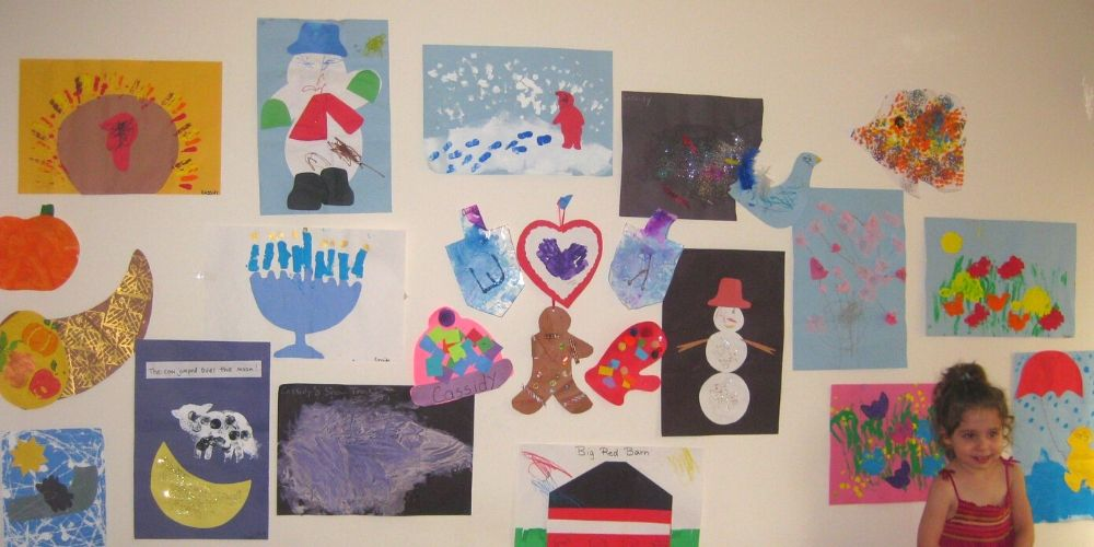 Example of art displayed on art wall