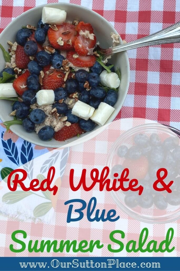 Title Card of Red, white, and Blue Summer Salad