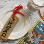 bookmark cookie on a plate with nancy drew book
