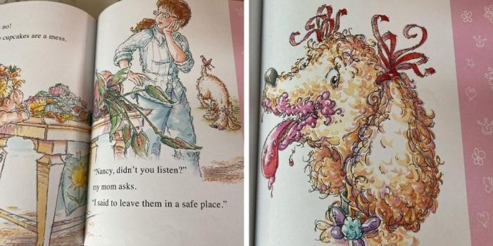 Fancy Nancy illustrations
