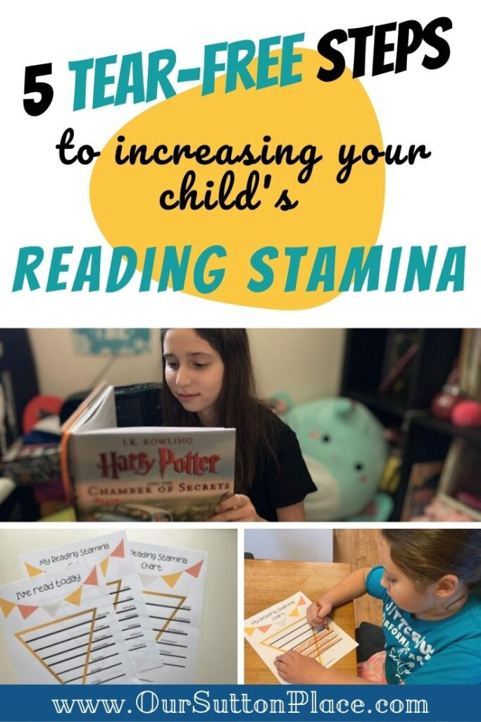 title Card for 5 Tear Free Steps to increasing reading stamina