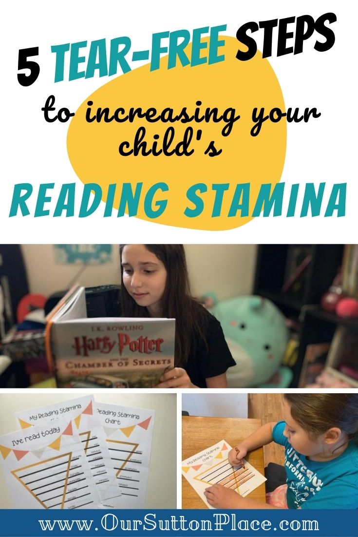How to Increase Reading Stamina in 5 Tear-free steps!