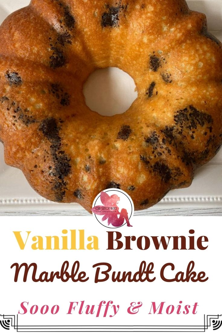Title Card for Vanilla Brownie Marble CAke