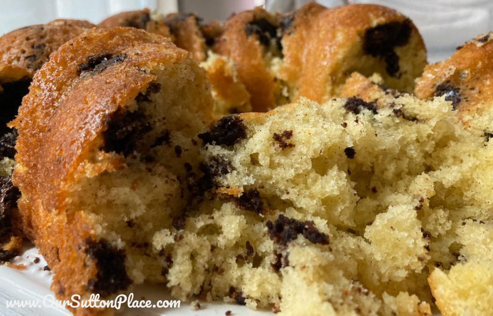 Fluffy marble cake