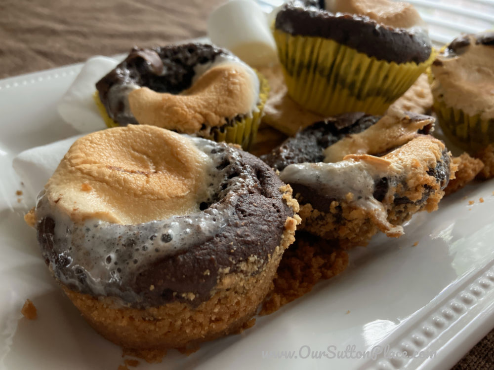 plate of s'mores muffins with no wrapper