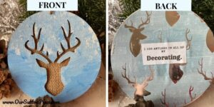 I use antlers in all of my decorating ornament