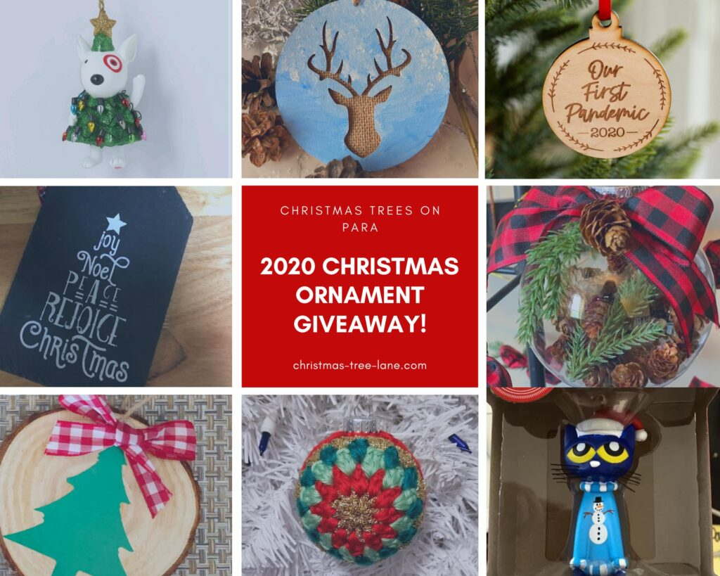 Collage of ornaments to win