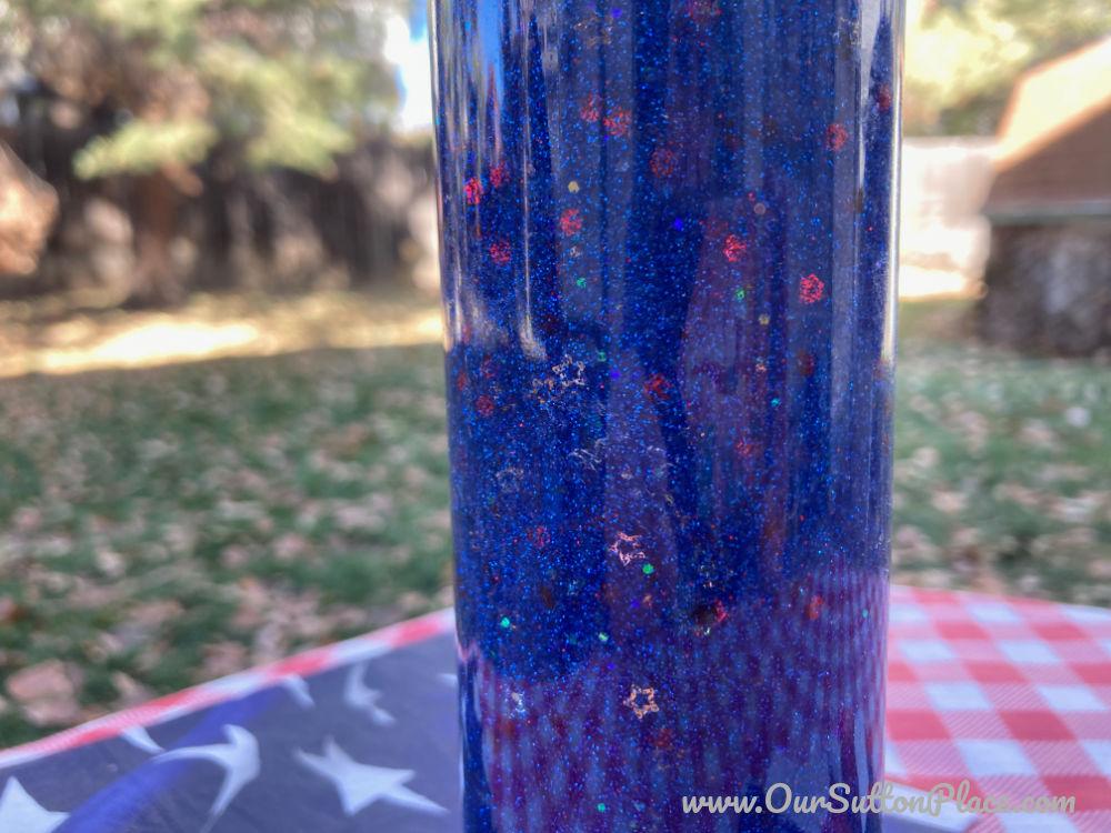 blue calming jar