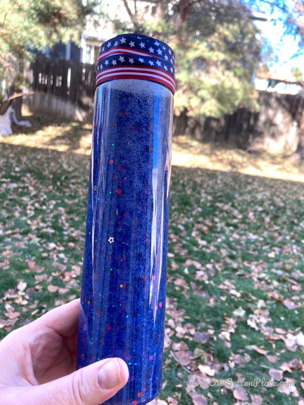 blue election night calming jar